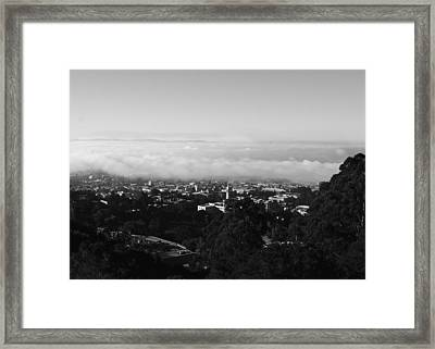 Above Cal Framed Print by Lennie Green