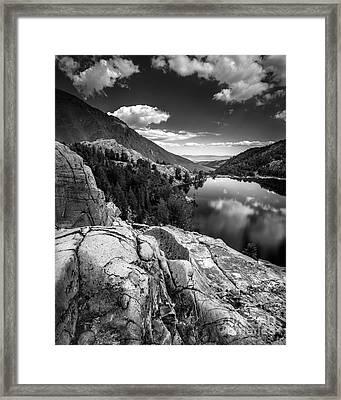 Above Cooney Lake Framed Print