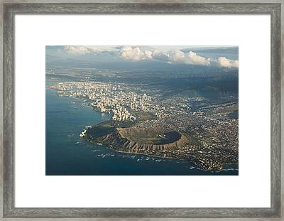 Framed Print featuring the photograph Above Hawaii by Georgia Mizuleva