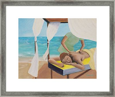 Above Healing Framed Print by Marcel Quesnel