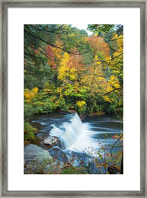 Above Hooker Falls Framed Print by Andres Leon