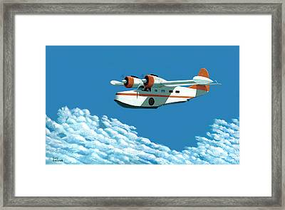 Above It All  The Grumman Goose Framed Print by Gary Giacomelli