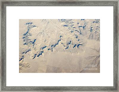 Above Kansas Windmills Framed Print by Darleen Stry