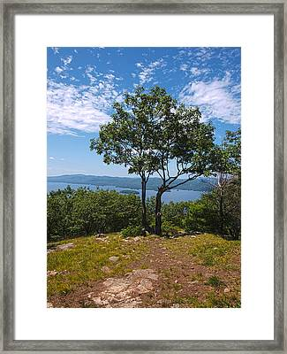 Above Lake George Framed Print by Joshua House