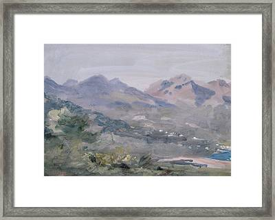 Above Menton Wc Framed Print by Hercules Brabazon Brabazon