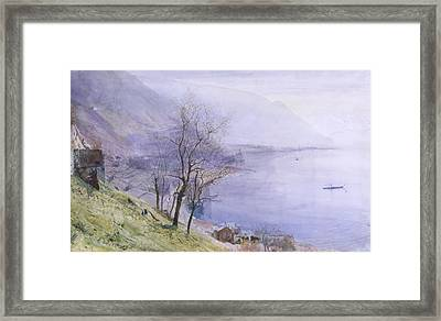 Above Montreux Framed Print by John William Inchbold