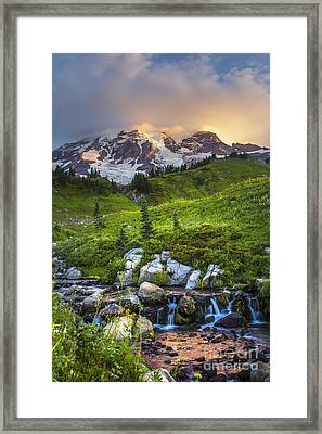 Above Myrtle Falls 3 Framed Print