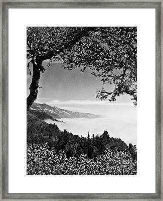 Framed Print featuring the photograph Above Nepenthe In Big Sur by Joseph J Stevens