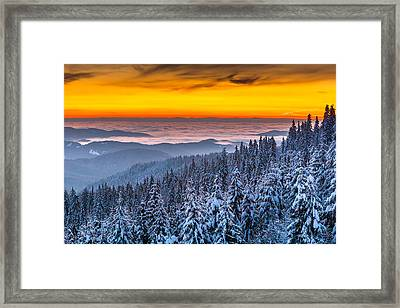 Above Ocean Of Clouds Framed Print by Evgeni Dinev