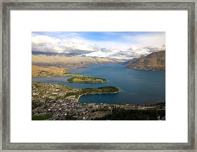 Above Queenstown Framed Print