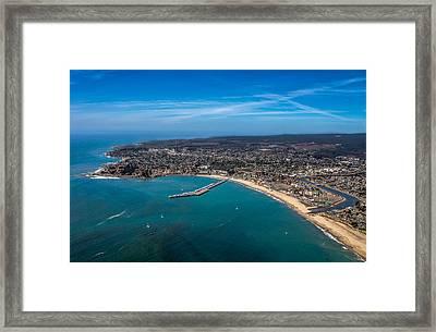 Above Santa Cruz California Looking West Framed Print by Randy Straka