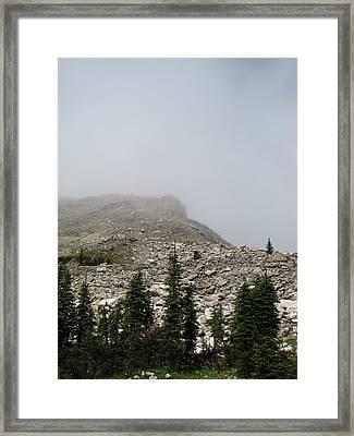 Above Scapegoat Camp Fog Framed Print