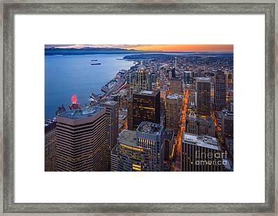 Above Seattle Framed Print by Inge Johnsson
