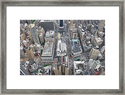 Above Skyscrapers Framed Print by Paul Van Baardwijk