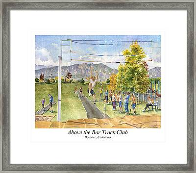 Above The Bar Track Club Poster Framed Print
