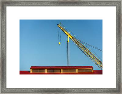 Above The Boathouse Framed Print
