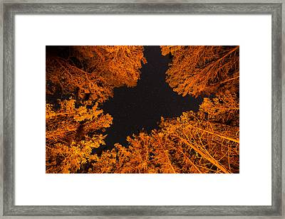 Above The Campfire Framed Print