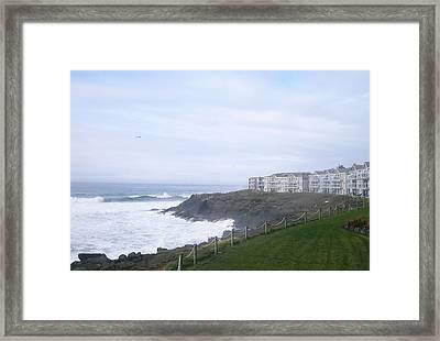 Above The Cliff Framed Print