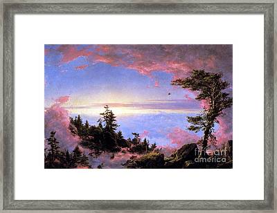 Above The Clouds At Sunrise By Frederick Edwin Church Framed Print