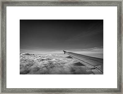Above The Clouds Bw Framed Print