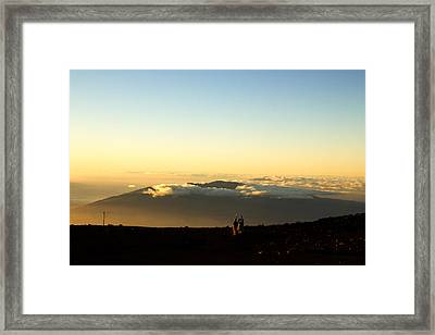 Framed Print featuring the photograph Above The Clouds by Cathy Donohoue