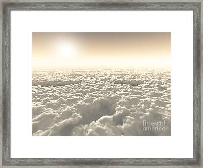 Above The Clouds Framed Print by Diuno Ashlee