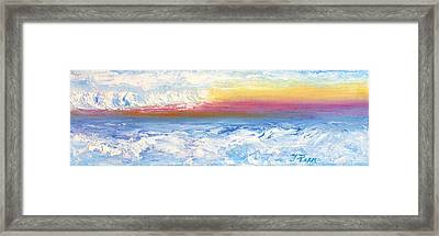 Above The Clouds II Framed Print