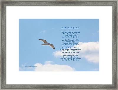 Framed Print featuring the digital art Above The Clouds by Lorna Rogers Photography
