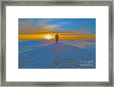 Above The Clouds Framed Print by Lynne Sutherland