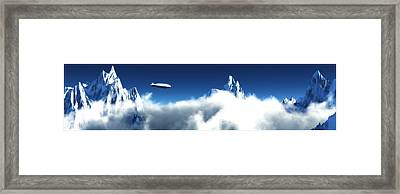 Framed Print featuring the digital art Above The Clouds... by Tim Fillingim