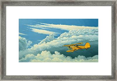 Above The Clouds-waco Biplane Framed Print by Paul Krapf