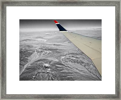 Above The Clouds Wing Tip View Sc Framed Print