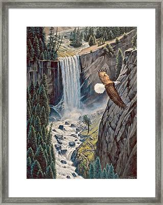 Above The Falls - Vernal Falls Framed Print