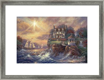 Above The Fray Framed Print by Chuck Pinson