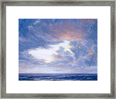Above The Horizon Framed Print by Lucie Bilodeau