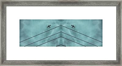 Above The Lines Blue Panorama Framed Print by Tony Grider