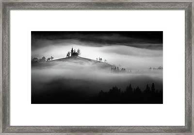 Above The Mist Framed Print