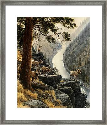 Above The River Framed Print