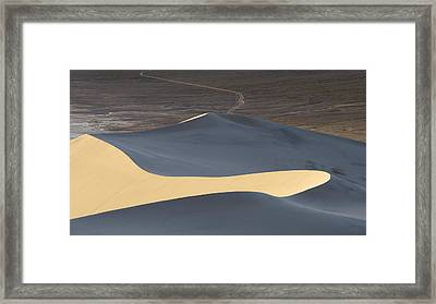 Above The Road Framed Print