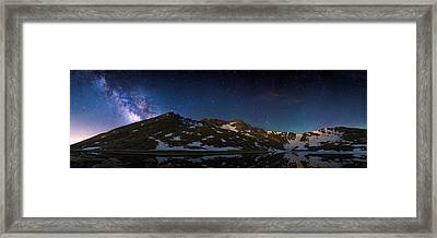 Above The Rocky Mountain High Framed Print by Adam Pender