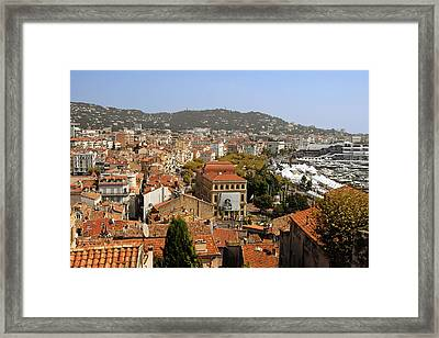 Above The Roofs Of Cannes Framed Print by Christine Till