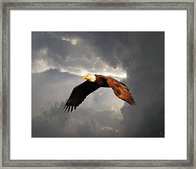 Above The Storm Framed Print