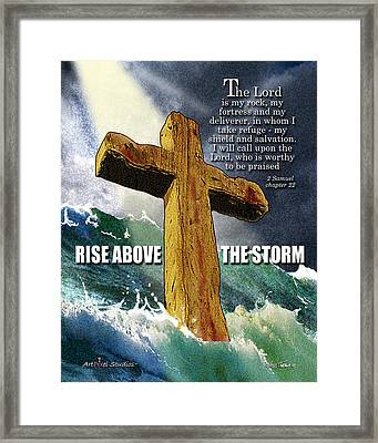 Above The Storm Framed Print by Nate Owens