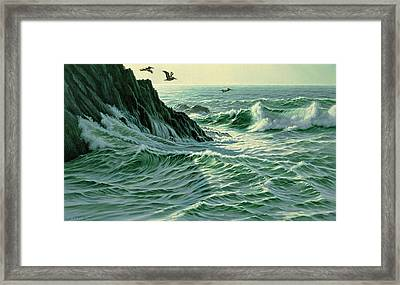 Above The Surf Framed Print by Paul Krapf
