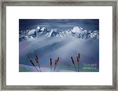 Above The Tree Line Framed Print by The Stone Age