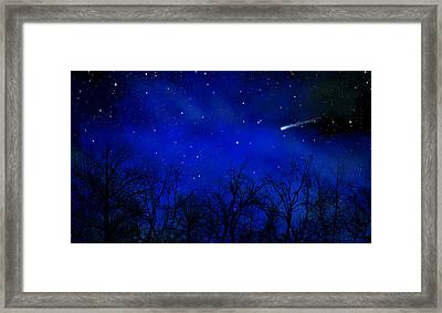 Above The Treetops Wall Mural Framed Print