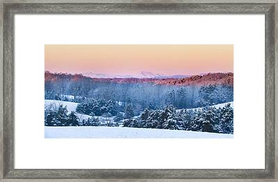 Above The Valley Framed Print