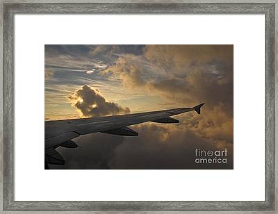 Framed Print featuring the photograph Above The Weather by Inge Riis McDonald