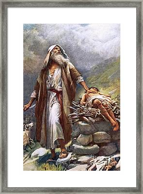 Abraham And Isaac Framed Print