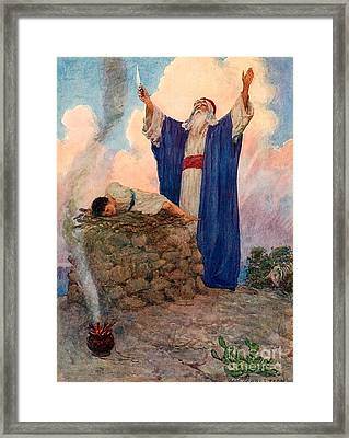 Abraham And Isaac On Mount Moriah Framed Print